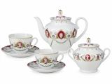 Lomonosov Porcelain Tea Set Spring Cameo 14 items