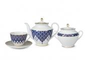 Lomonosov Porcelain Tea Set Spring Salamander 14 items