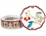 Lomonosov Porcelain Treasure Jewellery Round Box Sweet Raspberry