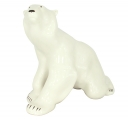 Polar Bear Sitting Big Lomonosov Imperial Porcelain Figurine