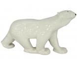 Polar Bear Walking Big Lomonosov Imperial Porcelain Figurine
