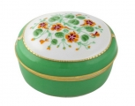Lomonosov Imperial Porcelain Treasure Jewellery Oval Box Nasturtium