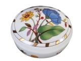 Lomonosov Imperial Porcelain Treasure Jewellery Oval Box Peony