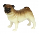 Pug Dog Standing Lomonosov Porcelain Figurine