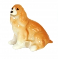 Spaniel Dog Apricot Colored Lomonosov Porcelain Figurine
