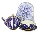 Special Offer: Winter Night TEAPOT with TEA CUP AND SAUCER + Free Collectors tin of Russian Tea