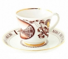 Lomonosov Imperial Porcelain Tea Cup Set Palace Square 7.4 oz/220 ml