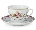 Lomonosov Imperial Porcelain Tea Cup Set Spring Cameo 7.8 oz/230ml