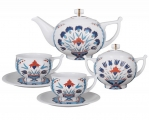 Lomonosov Imperial Porcelain Tea Set Cornflower 6/14