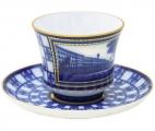 Lomonosov Imperial Porcelain Tea Set Cup and Saucer Banquet Lion Bridge 7.4 oz/220 ml