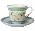 Lomonosov Imperial Porcelain Tea Set Cup and Saucer Banquet North Aurora 7.4 oz/220 ml
