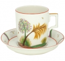Lomonosov Imperial Porcelain Tea Set Cup and Saucer Fall 7.4 oz/220 ml