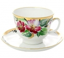 Lomonosov Imperial Porcelain Tea Set Cup and Saucer Gift Hope 12.7 oz/375 ml