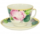 Lomonosov Imperial Porcelain Tea Set Cup and Saucer Gift Love 12.7 oz/375 ml