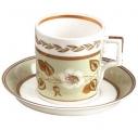 Lomonosov Imperial Porcelain Tea Set Cup and Saucer Jade #1 7.4 oz/220 ml