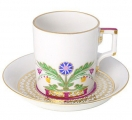 Lomonosov Imperial Porcelain Tea Set Cup and Saucer Moscow River 7.4 oz/220 ml