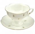 Lomonosov Imperial Bone China Porcelain Tea Set Cup and Saucer Natasha