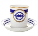 Lomonosov Imperial Porcelain Tea Set Cup and Saucer Navy Style #2 7.4 oz/220 ml