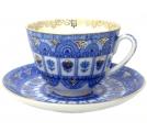Lomonosov Imperial Porcelain Tea Set Cup and Saucer Spring Arches 7.8 oz/230 ml
