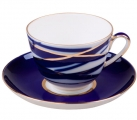 Lomonosov Imperial Porcelain Tea Set Cup and Saucer Spring Cocoon 7.8 oz/230 ml