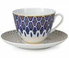 Lomonosov Imperial Porcelain Tea Set Cup and Saucer Spring Salamander 7.8 oz 230ml