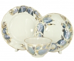 Lomonosov Imperial Porcelain Tea Set 3pc Tulip Moonlight 8.45 oz/250 ml