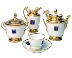 Lomonosov Imperial Porcelain Tea Set Gold Cottage 22K 6/20