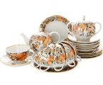 Lomonosov Imperial Porcelaine Tulip My Garden Tea Set 6/20