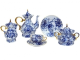 Lomonosov Imperial Porcelain Tea Set Singing Garden 6/22