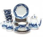 Lomonosov Imperial Porcelain Tea Set Tenderness 6/21