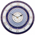 Wall Clock Cobalt Net Lomonosov Imperial Porcelain