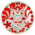 "Decorative Wall Plate Fairytale Magic Birds 7.7""/195 mm Lomonosov Imperial Poprcelain"