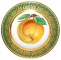 "Decorative Wall Plate Golden Apple 10.4""/265 mm Lomonosov Imperial Porcelain"