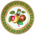 "Decorative Wall Plate Golden Apples 10.4""/265 mm Lomonosov Imperial Porcelain"