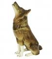 Wolf Sitting Lomonosov Imperial Porcelain Figurine