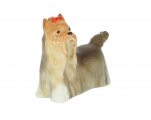 Yorkshire Terrier Dog Lomonosov Porcelain Figurine