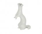 Russian Porcelain Porcelain Figurine Standing White Weasel