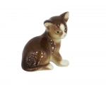 Kitten Cat Brown Lomonosov Imperial Porcelain Figurine