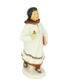 Eskimo Girl with Flower Lomonosov Imperial Porcelain Figurine