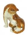 Cheetah Leopard Panther Lomonosov Imperial Porcelain Figurine
