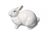 Easter Bunny Rabbit Hare White Lomonosov Imperial Porcelain Figurine