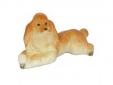Poodle Apricot colored Dog Lomonosov Porcelain Figurine