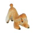 Poodle Apricot Colored Playing Dog Lomonosov Porcelain Figurine