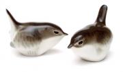Wren Bird Family Lomonosov Porcelain Figurine 2 Items Set