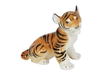 Tiger Baby Sitting Lomonosov Imperial Porcelain Figurine