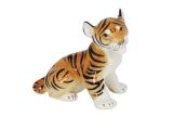 Russian Porcelain Lomonosov Porcelain Figurine Tiger Cub Sitting