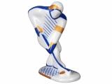Lomonosov Porcelain Figurine Winter Sport Ice Hockey Player Blue Uniform