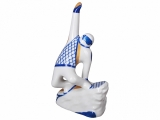 Russian Porcelain Porcelain Figurine Winter Sport Snowboarder Blue Uniform