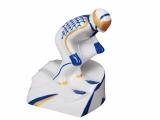Lomonosov Porcelain Porcelain Figurine Winter Sport Mountain Skier Blue Uniform