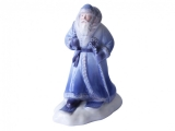 Lomonosov Porcelain Christmas New Year Figurine Blue Father Frost Santa Claus